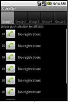 Screenshot of QuickDial