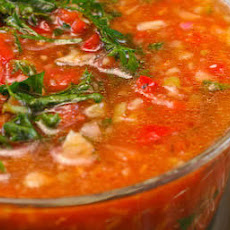 Gazpacho with Red and Yellow Tomatoes