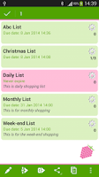 Screenshot of ShopBerry Grocery List