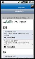 Screenshot of My Nextbus
