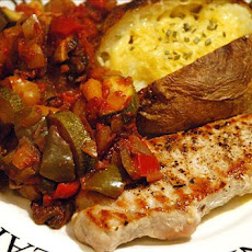 Low Fat Pork With Ratatouille Sauce