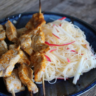 Make-Ahead Curry Pork Skewers with Vermicelli