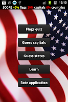 Screenshot of Quiz - U.S. States Capitals
