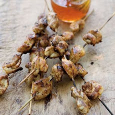 Chicken Yakitori with Honey Sauce