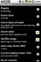 Screenshot of Playlist Alarm