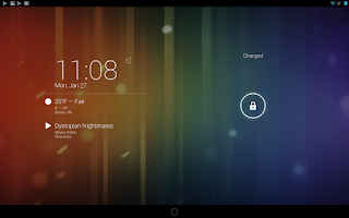 Screenshot of DashClock Music Extension