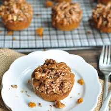 Pumpkin Muffins with Nut Streusel Topping