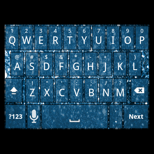 Blue Glitter Keyboard Skin LOGO-APP點子