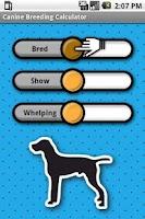 Screenshot of Canine Breeding Calculator