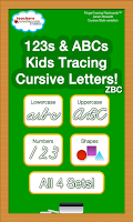 Screenshot of ABCs Kids Tracing Cursive ZBC