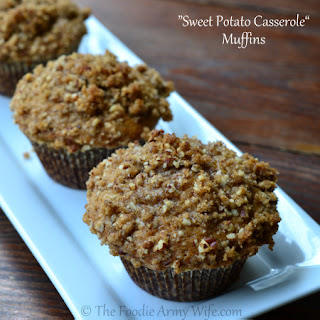 """Sweet Potato Casserole"" Muffins"