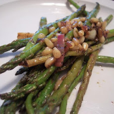 Asparagus with Toasted Pine Nuts & Lemon Vinaigrette