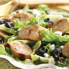 Sweet Apple Chicken Sausage, Endive, & Blueberry Salad with Toasted Pecans