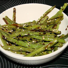 Asian Sesame Roasted Green Beans
