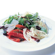 Roasted Red Bell Pepper and Fennel Salad