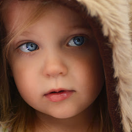 Shy baby bear. by Lucia STA - Babies & Children Child Portraits