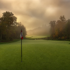 Dawn at Mountaintop by Dave Sansom - Sports & Fitness Golf ( 'professional golf course photography', cashiers, 'private golf club', 'professional golf course photographer', 'golf course', golf, 'north carolina', 'mountaintop', 'dave sansom',  )