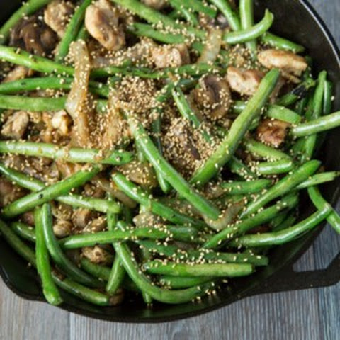 Sesame Garlic Ginger Green Beans Recept | Yummly