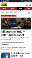 Screenshot of Nöjesbladet