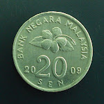 Malaysia 2nd series 20 Sen obverse