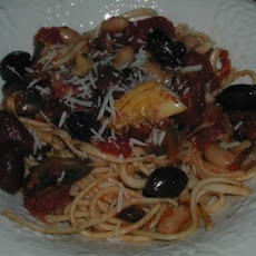 Pasta With Beans, Artichokes, and Olives