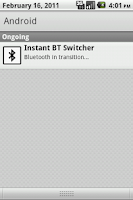 Screenshot of Instant Bluetooth Switcher