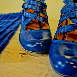 Blue Beauties by Barbara Brock - Artistic Objects Clothing & Accessories ( women's shoes, blue, women's footwear, blue shoes )
