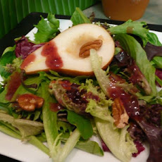 Mixed Greens With Raspberry Walnut Dressing