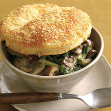 Mushroom Not-Potpies with Cheesy Parmesan Crust