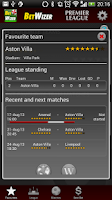 Screenshot of BetWizer Premier League FREE