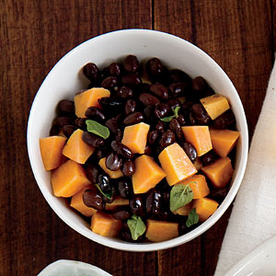 Warm Sweet Potato and Black Bean Salad