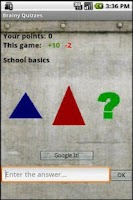 Screenshot of Brainy Quizzes