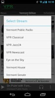 Screenshot of VPR Android App