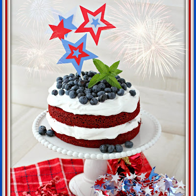 Red White and Blue Cake for July 4th
