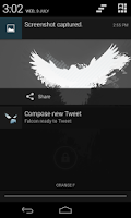 Screenshot of Falcon for Twitter (Donate)