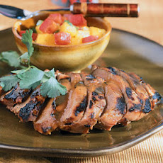 Barbecued Duck with Mango Salsa