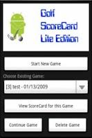 Screenshot of Golf ScoreCard Lite
