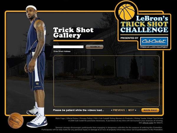 Cub Cadet LeBron8217s Trick Shot Challenge