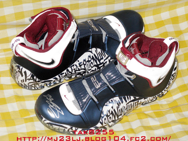 Upper Deck Autographed Nike Zoom LeBron IV AllStar PE with 23
