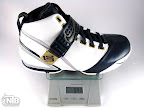 lebron5 white navy strap gram Weightionary