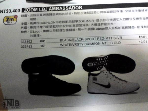 LeBron8217s Zoom LBJ Ambassador Release Information