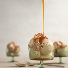 Irish Coffee Sundaes with Caramel Whiskey Sauce