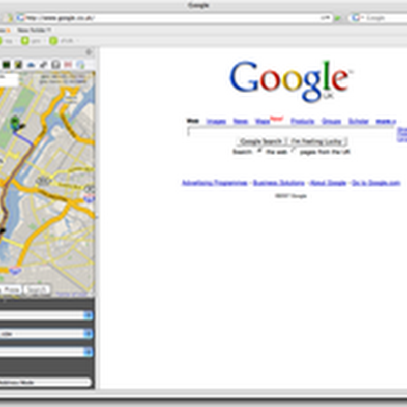Google Maps inside Firefox with Mini Map Sidebar