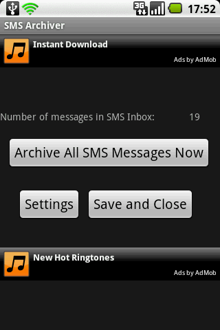 SMS Archiver Ad-Supported