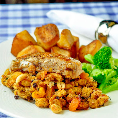 Apricot Cashew Stuffed Pork Chops