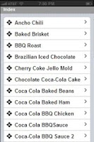 Screenshot of Famous Coca Cola Recipes