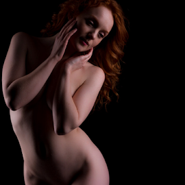 Shy by Paul Phull - Nudes & Boudoir Artistic Nude ( art nude, hot body, artistic, redhead, curves )