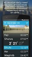 Screenshot of Athanotify - prayer times