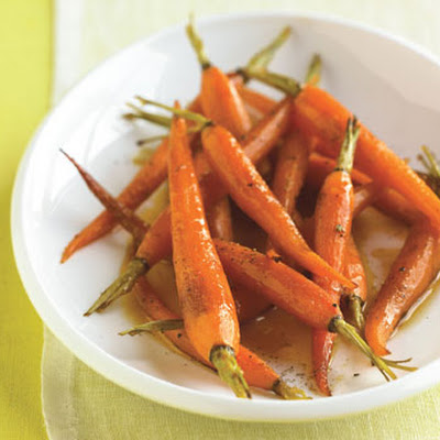 Orange-Roasted Baby Carrots with Honey