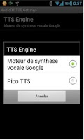 Screenshot of AudioBT with TTS: BT audio GPS